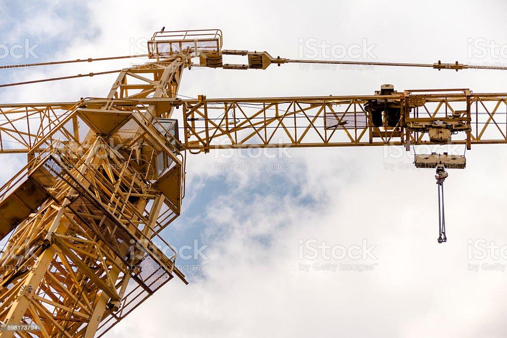 Building crane stock photo