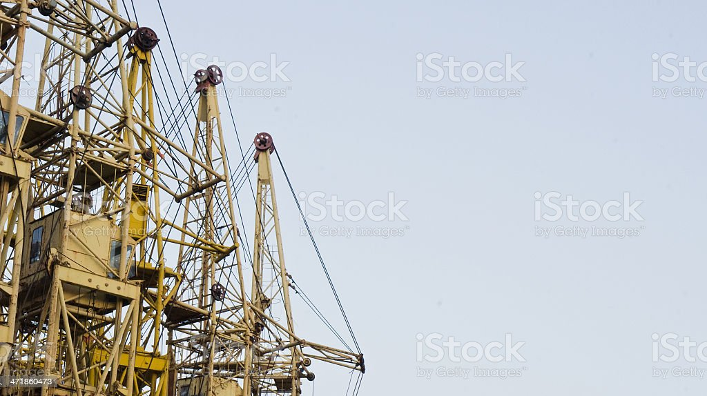 Building cranes and sky royalty-free stock photo