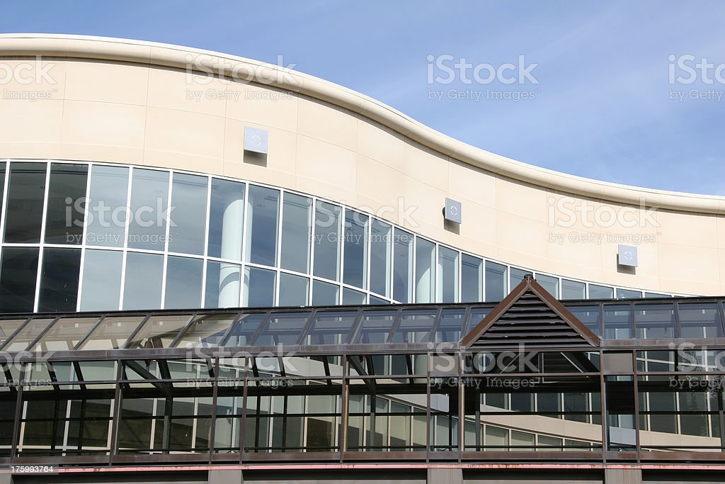 Building Curved stock photo