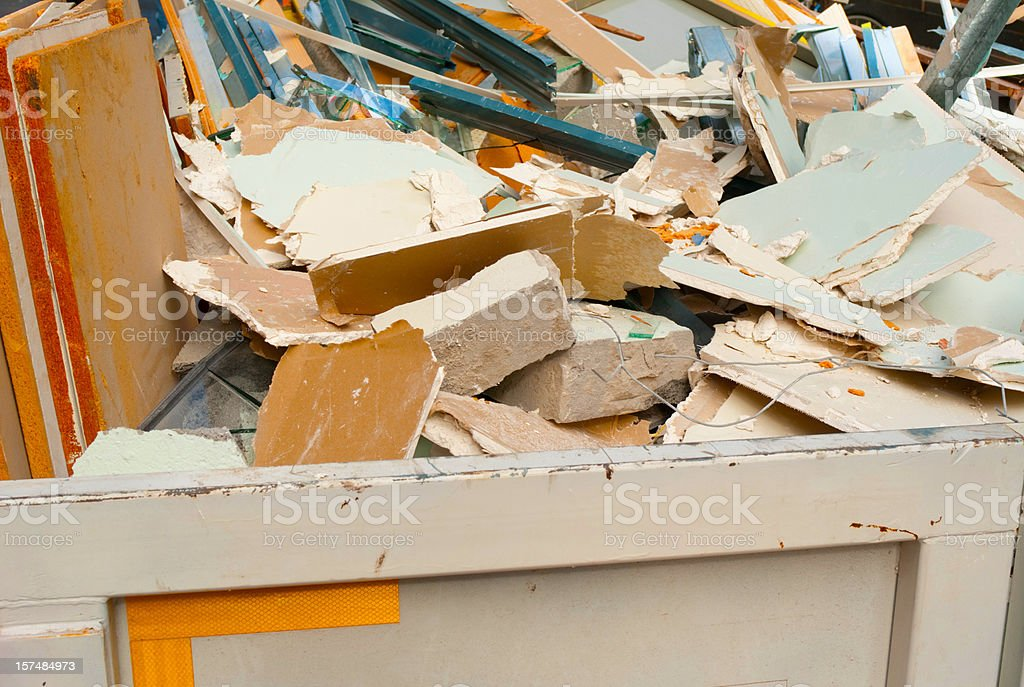 Building Debris stock photo
