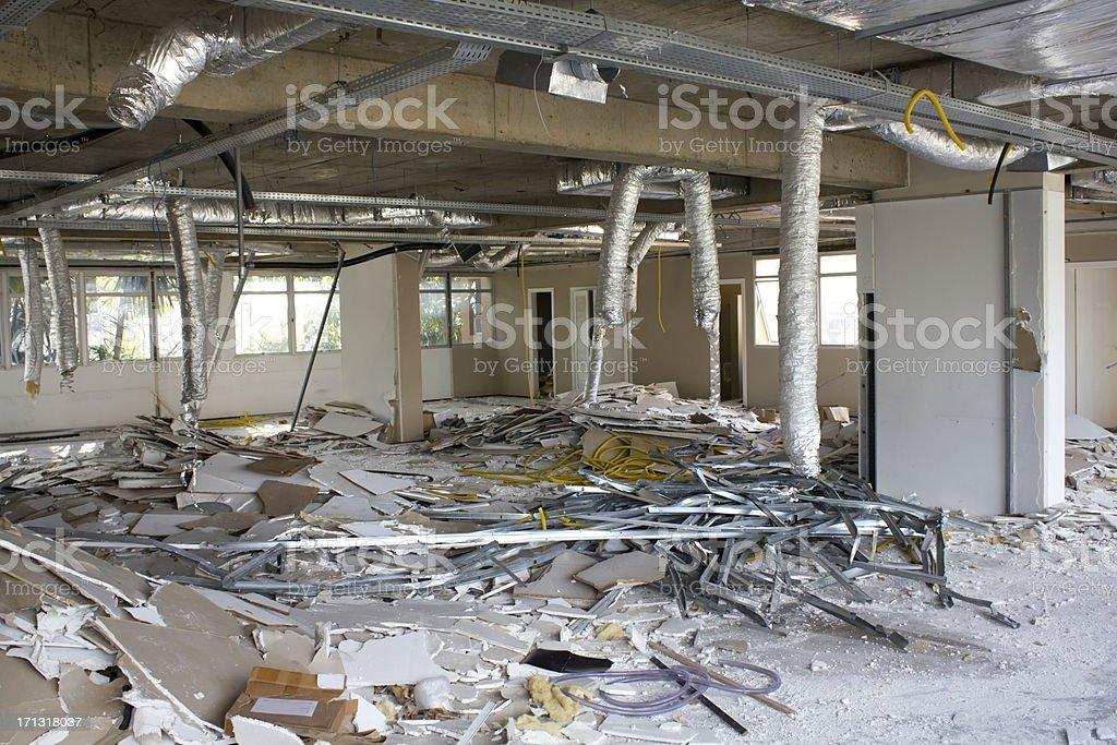 Building demolished stock photo