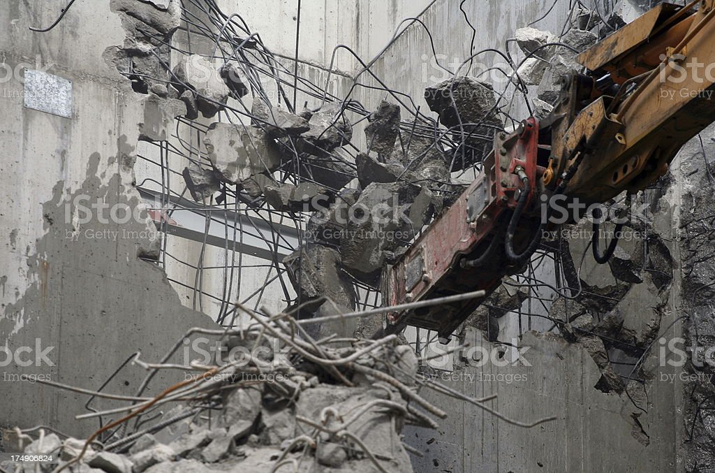 Building Demolition royalty-free stock photo