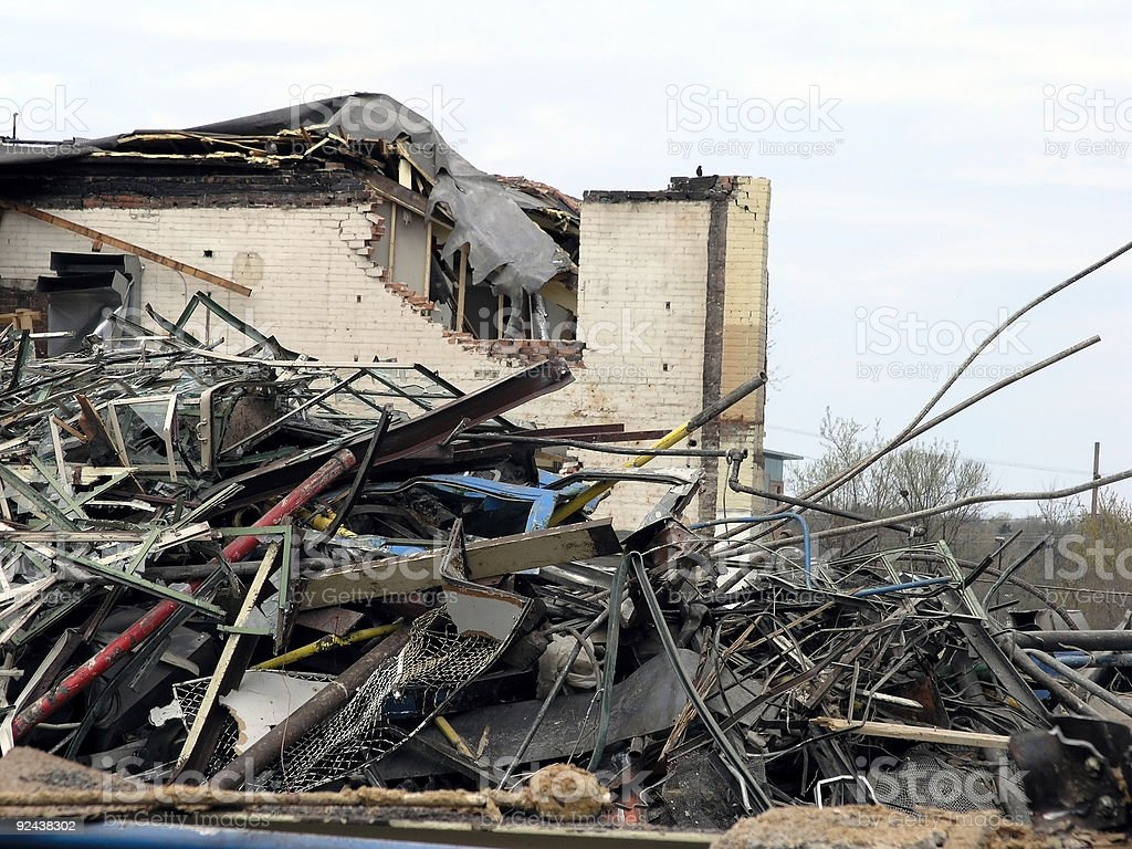 Building Demolition Scraps royalty-free stock photo