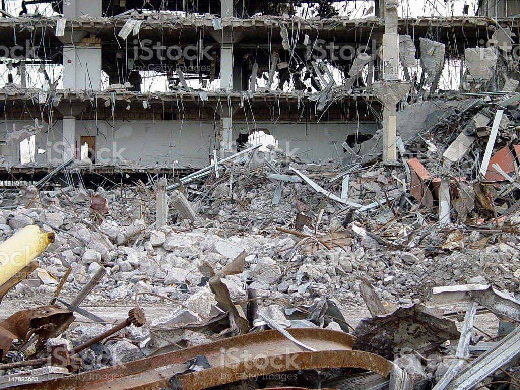 Building Destruction 4 stock photo