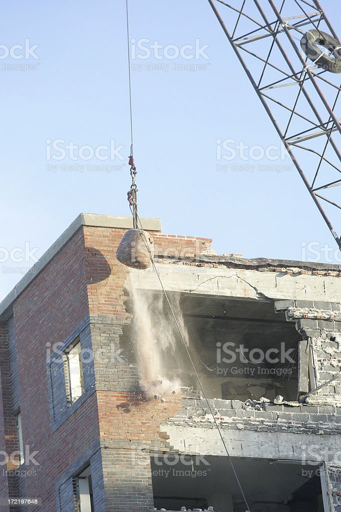 Building Destruction stock photo