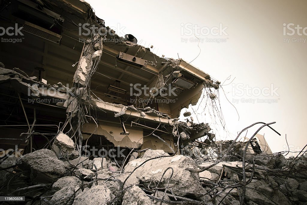 Building Destruction royalty-free stock photo