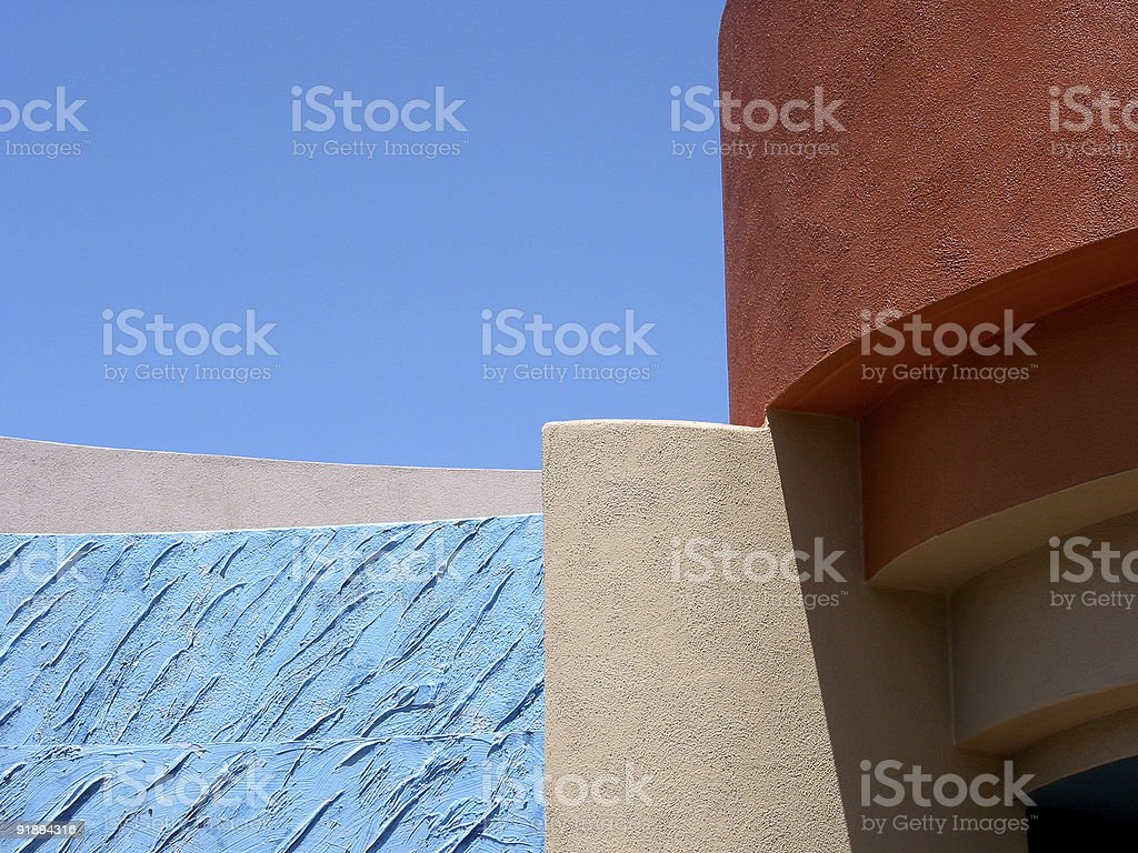 Building Detail, Maui, Hawaii stock photo