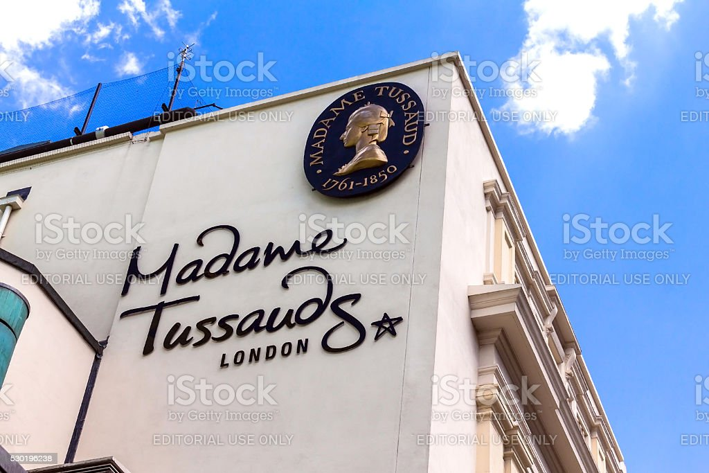 Building detail of Madame Tussauds on Marylebone Road in London stock photo