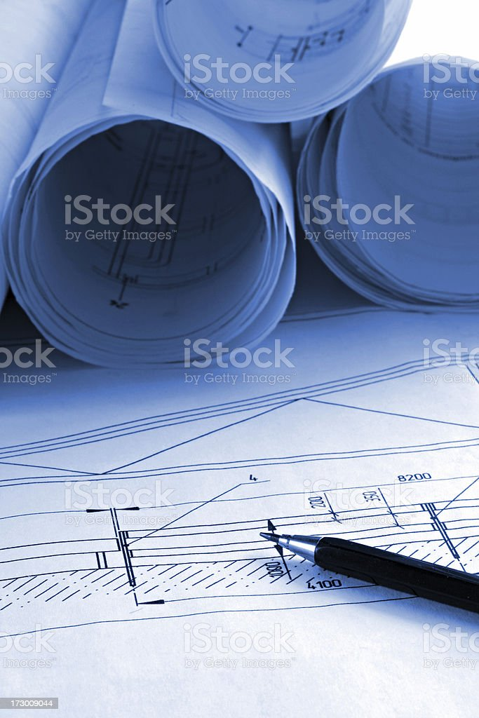 building drawing royalty-free stock photo