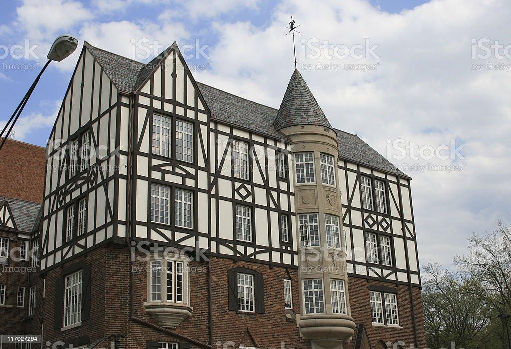 Building, Dutch Architecture, Ann Arbor, Michigan, USA. royalty-free stock photo
