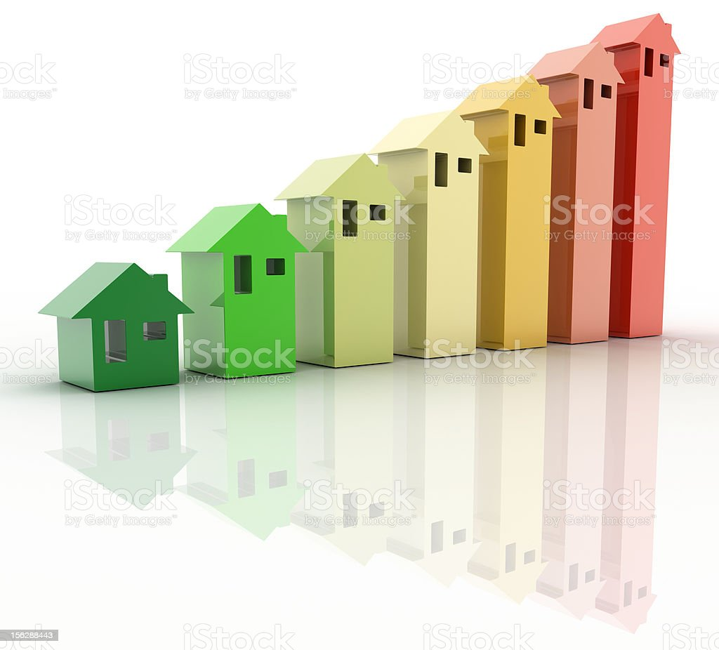 Building Energy Rate certificate royalty-free stock photo