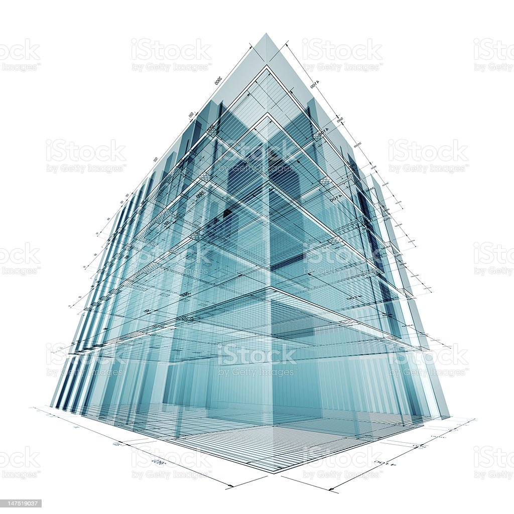 Building engineering royalty-free stock photo