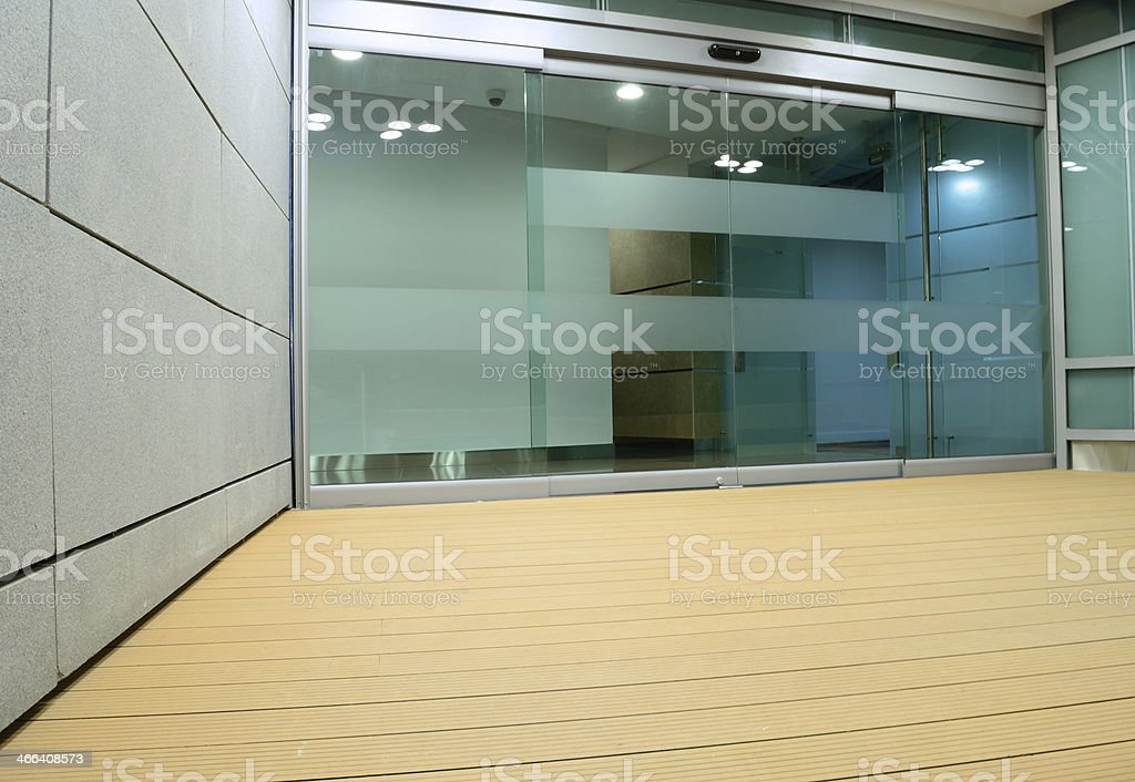 Building entrance. stock photo