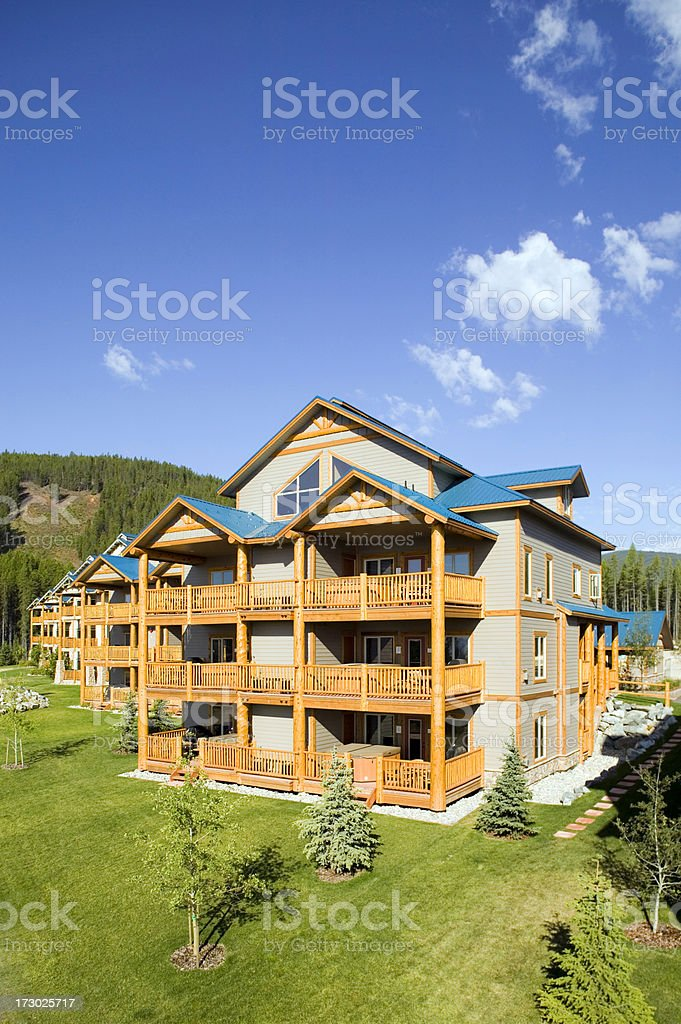 building exterior house construction ski resort royalty-free stock photo