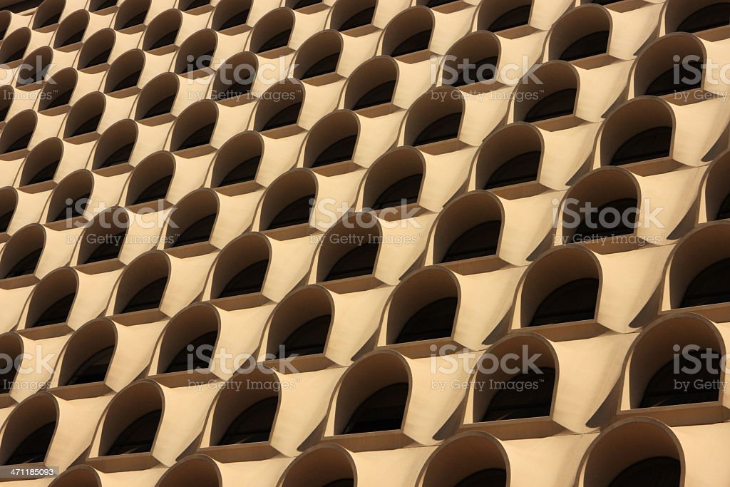 Building Facade Balcony Window Pattern royalty-free stock photo