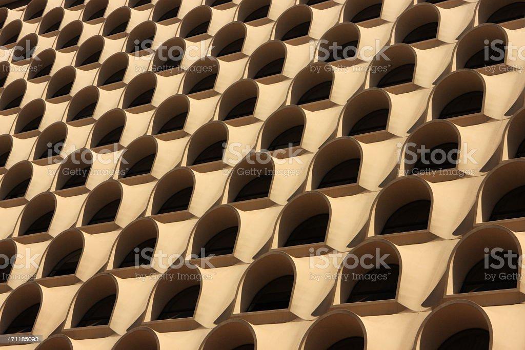 Building Facade Balcony Window Pattern royalty-free stock photo