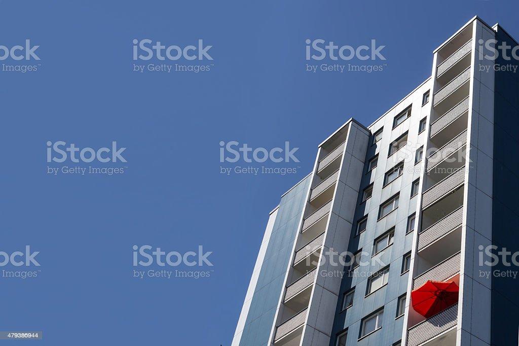 building facade, berlin - real estate stock photo