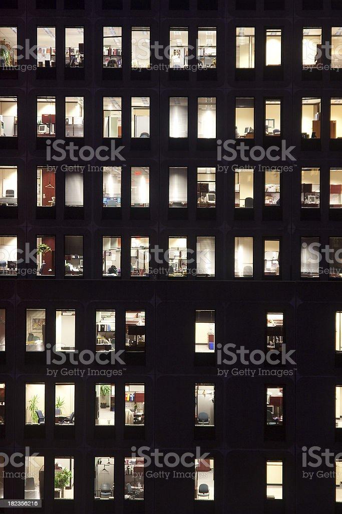Building Facade by night stock photo