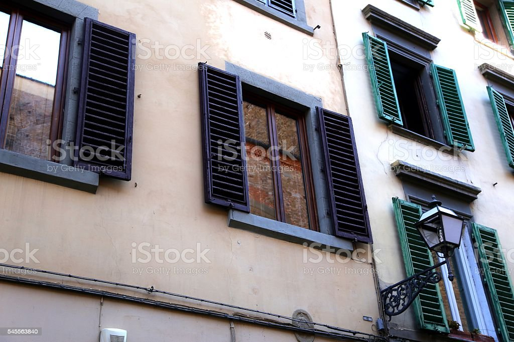 Building Facade In Florence, Italy stock photo