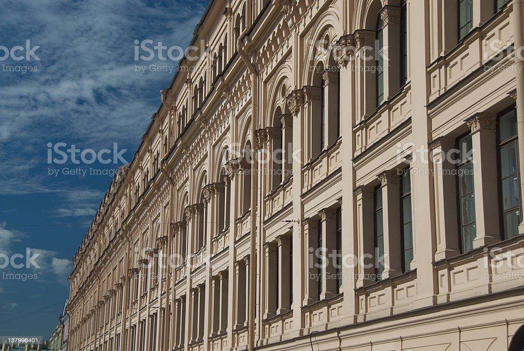 Building Facade - Nevskiy Prospect royalty-free stock photo