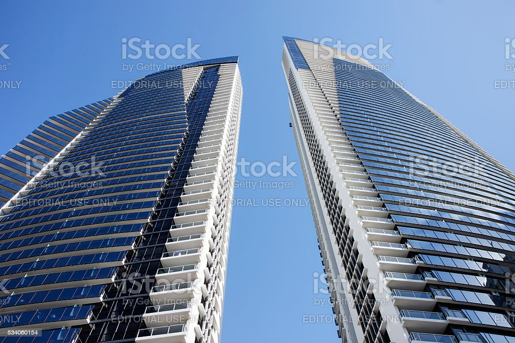 Building facade of Circle on Cavill stock photo
