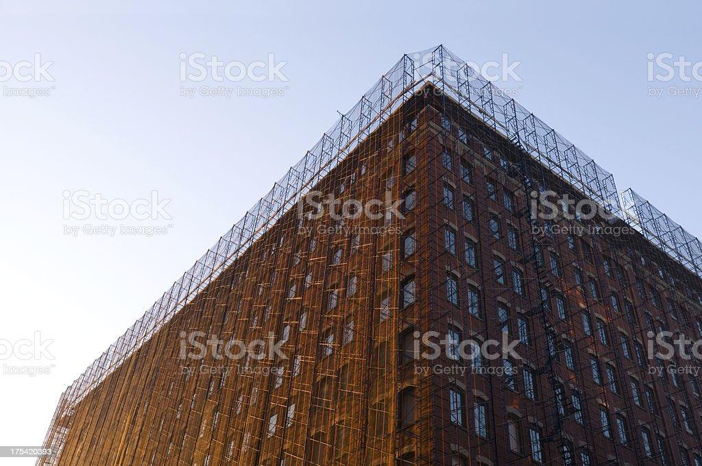 Building facade restoration royalty-free stock photo