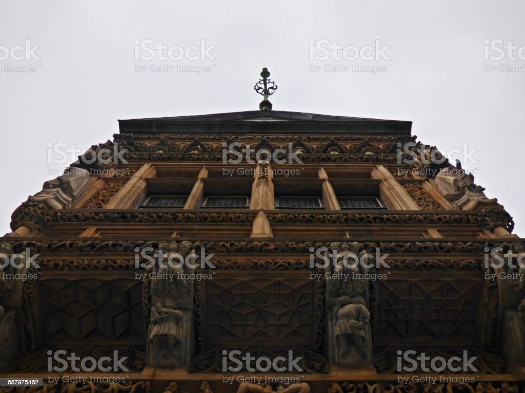 building facade viewed from ground stock photo