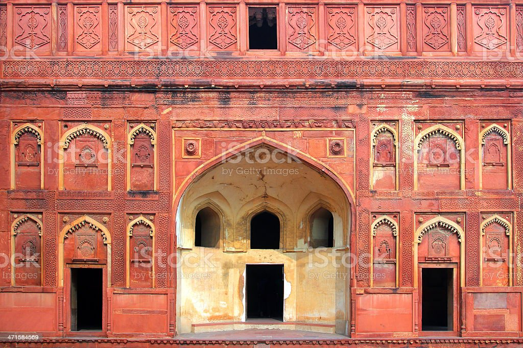 building fragment with door in India royalty-free stock photo