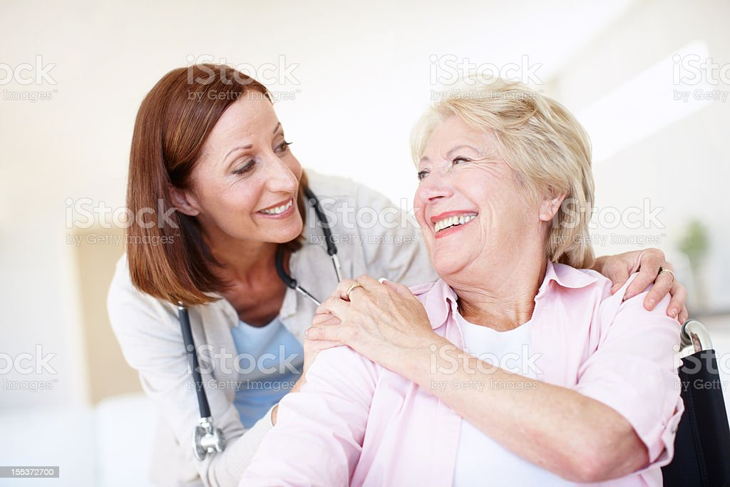 Building great doctor-patient bonds royalty-free stock photo