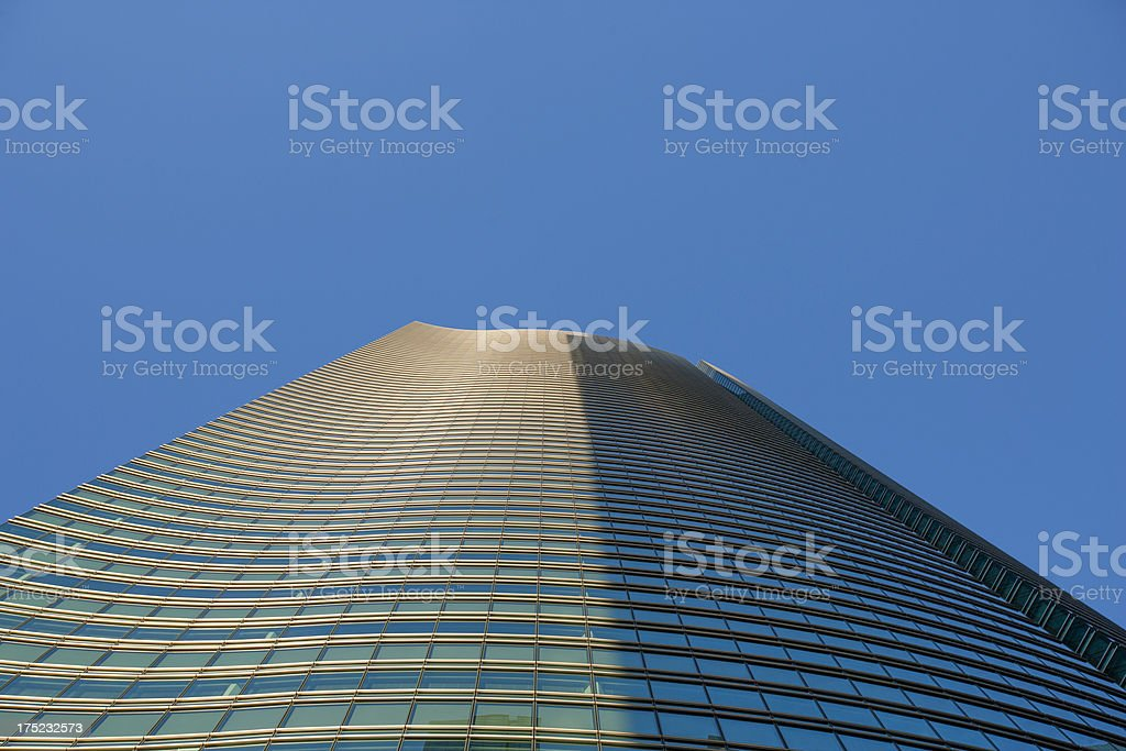 Building growing in the sky. royalty-free stock photo