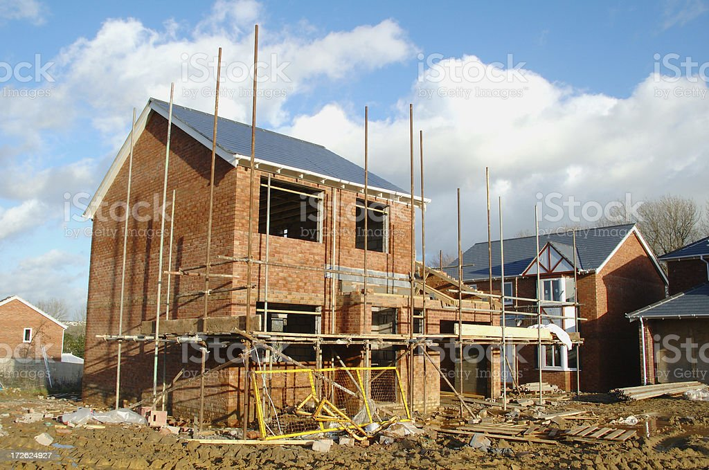 building homes royalty-free stock photo