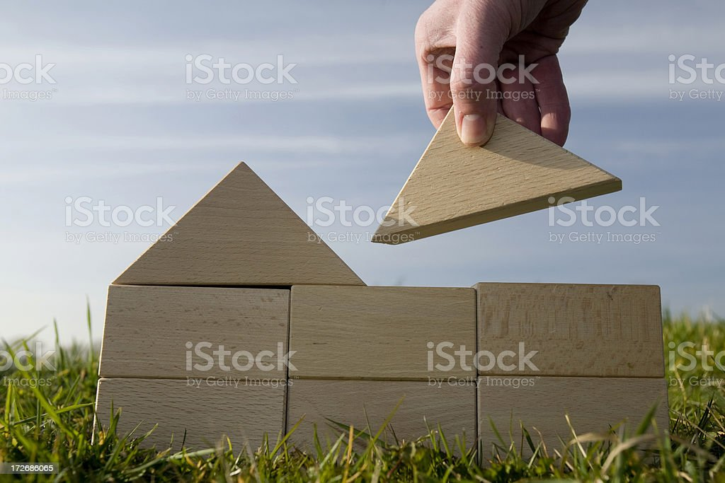 Building houses royalty-free stock photo