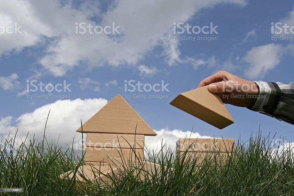 Building houses stock photo