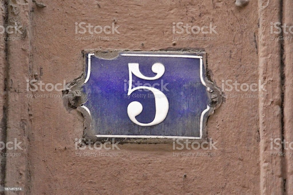 Building Identification Number royalty-free stock photo