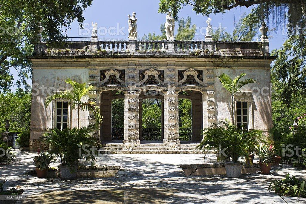 Building in an ornamental garden stock photo