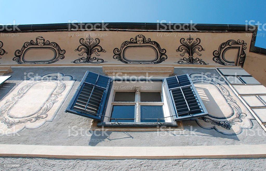 Building in Bad Radkersburg stock photo