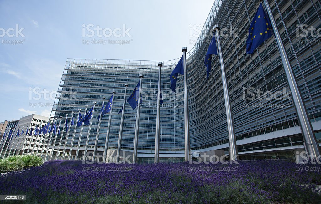 EEC building in Brussels, Belgium stock photo