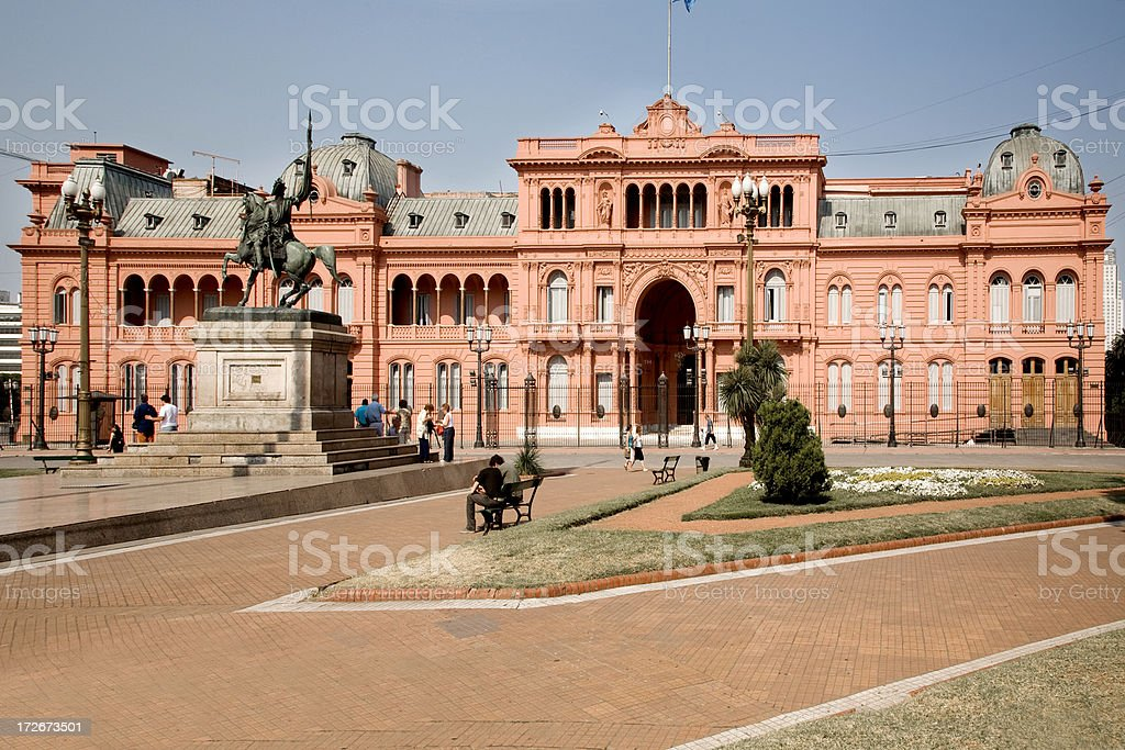 A building in Casa Rosada in Buenos Aires, Argentina  royalty-free stock photo