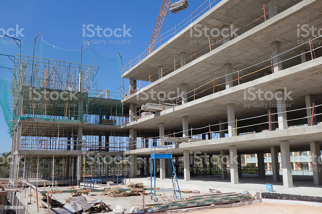 Building in construction stock photo