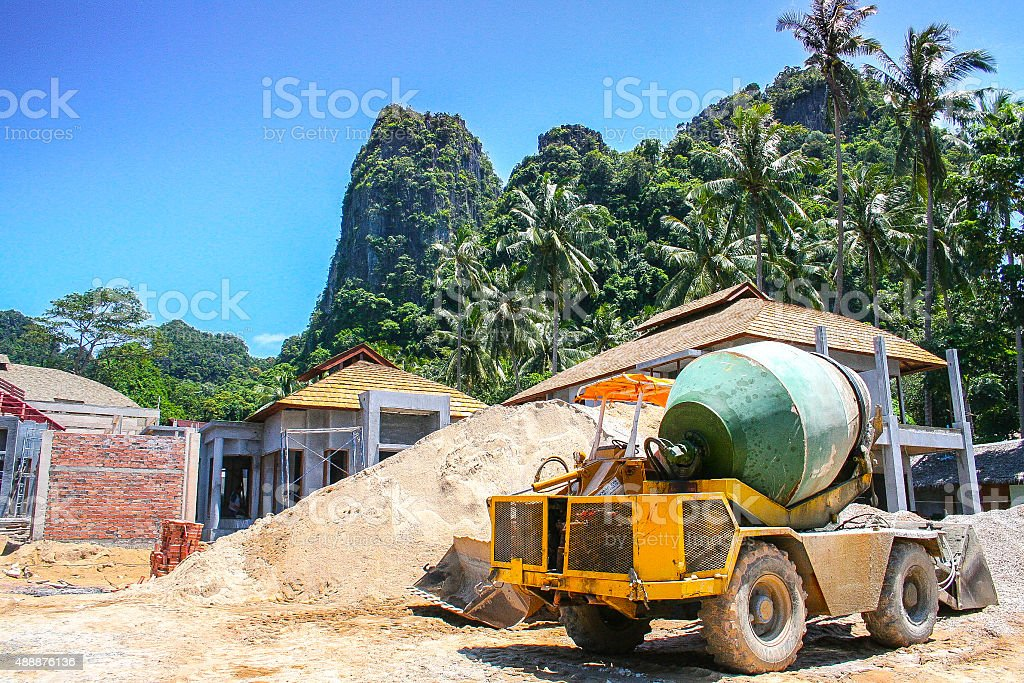 Building in Developing Nation stock photo