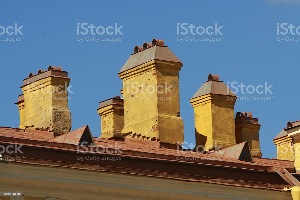 Building in Downtown St. Petersburg Russia (2) stock photo