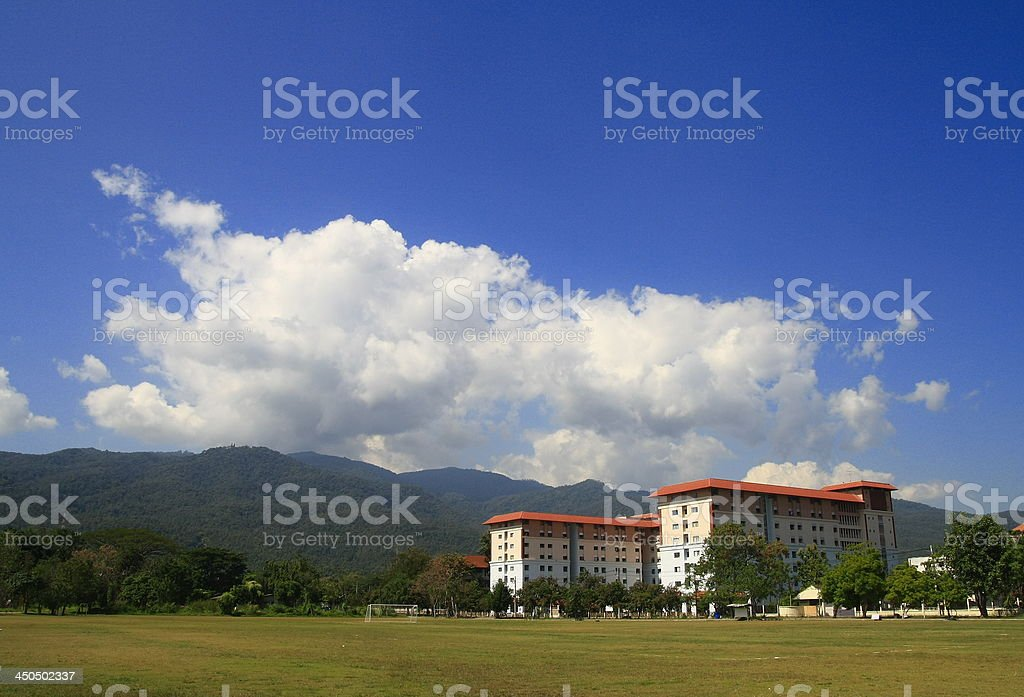 building in field royalty-free stock photo