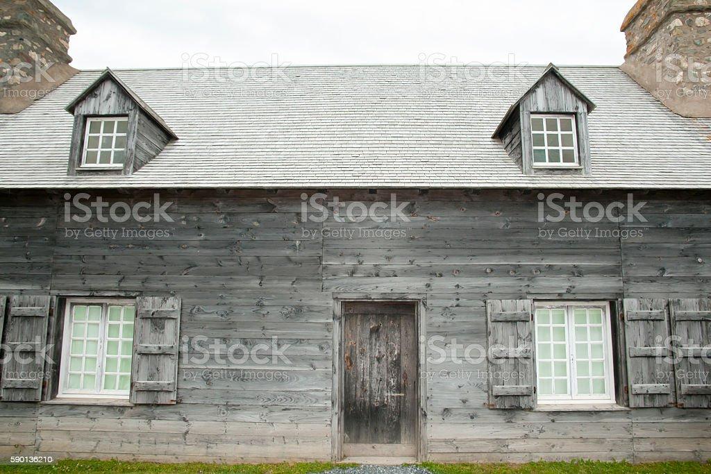 Building in Fort Louisbourg - Nova Scotia - Canada stock photo