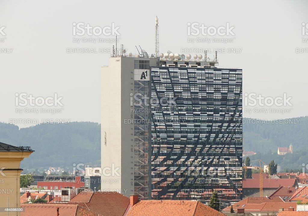 A1 building in Graz stock photo