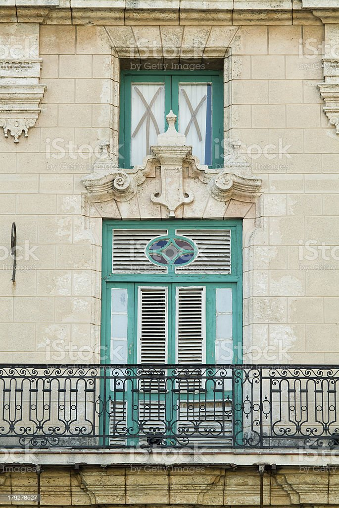 Building in Havana, Cuba royalty-free stock photo