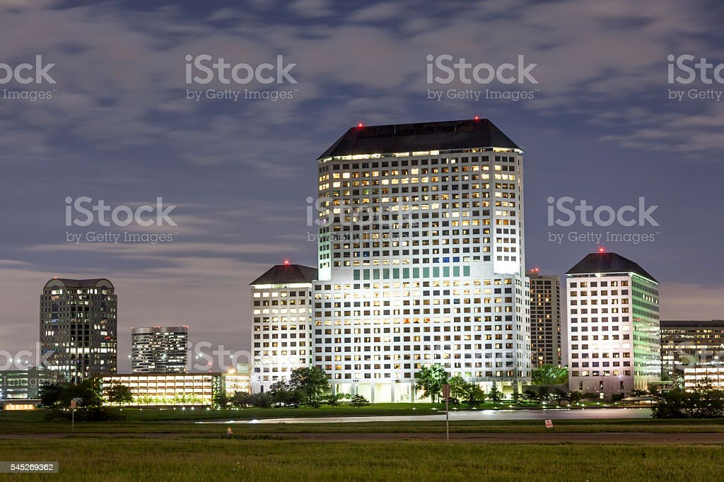 Building in Irving, Texas stock photo
