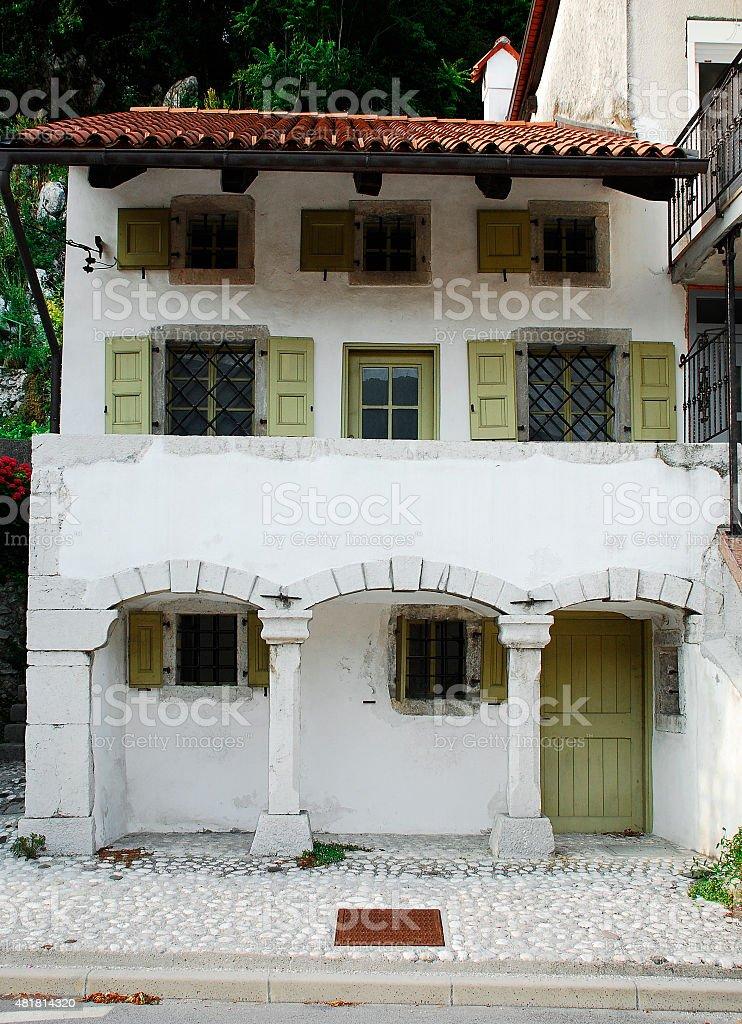 Building in Kobarid stock photo