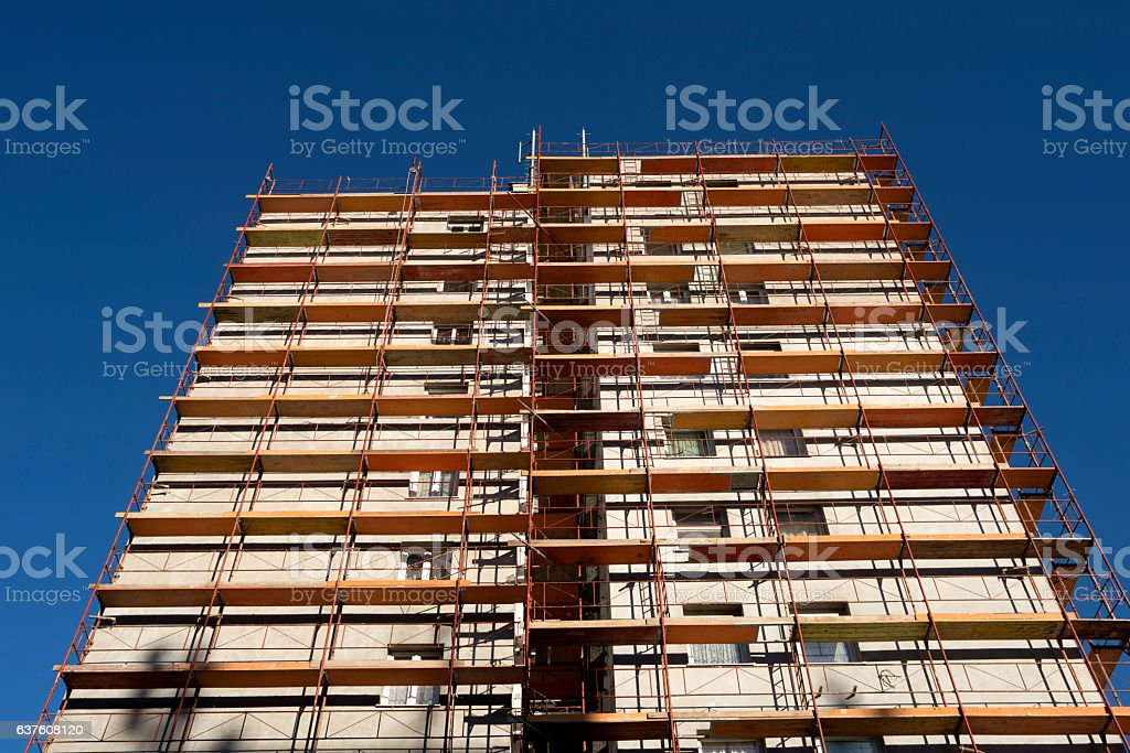 Building in maintenance stock photo