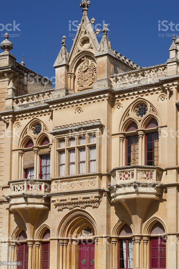 Building in Mdina, Malta island. royalty-free stock photo