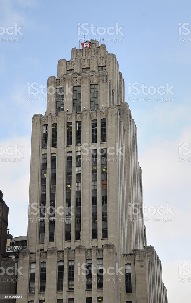 Building in Montreal stock photo